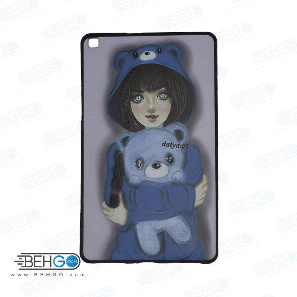 قاب T295 کاور مدل طرح دار دخترانه کد 11 مشکی تبلت سامسونگ تی 295 گلکسی مناسب سامسونگ Cover For Samsung Galaxy Tab A 8.0 2019 LTE SM-T295