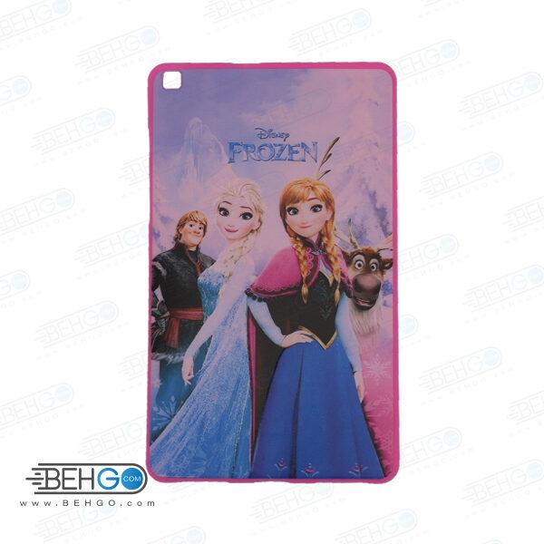 قاب T295 کاور مدل طرح دار دخترانه کد 1 صورتی تبلت سامسونگ تی 295 گلکسی مناسب سامسونگ Frozen Cover For Samsung Galaxy Tab A 8.0 2019 LTE SM-T295