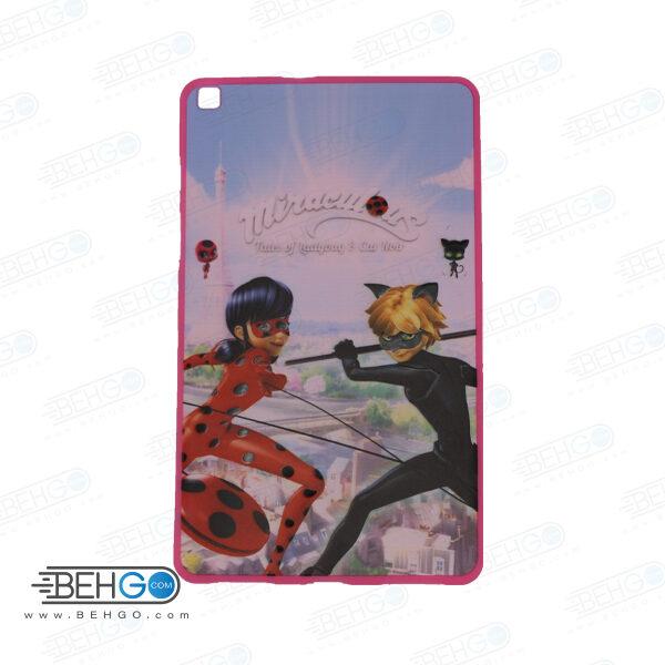 قاب T295 کاور مدل طرح دار دخترانه کد 3 صورتی تبلت سامسونگ تی 295 گلکسی مناسب سامسونگ Frozen Cover For Samsung Galaxy Tab A 8.0 2019 LTE SM-T295