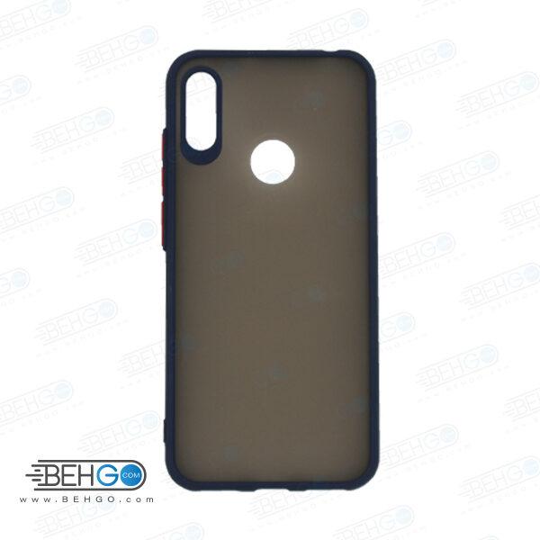 قاب Y6 2019 هواوی محافظ دور رنگی کاور پشت مات با برجستگی لنز دوربین هواوی وای شش 2019 و آنر 8آ Fashion Case Huawei Y6 Prime 2019/Honor 8a