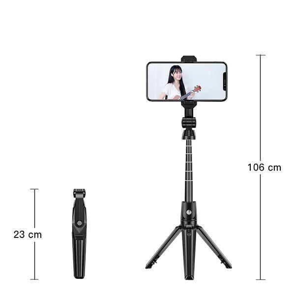 مونوپاد و تری پاد سه پایه نگهدارنده موبایل ساخت فیلم استوری و لایو اینستاگرام Tripod K21