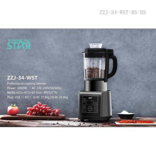 غذاساز اصلی برند وینینگ استار مدل WST-300H دستگاه غذا ساز چند کاره اسیاب برقی ، پودر کن ،خرد کن ،میکسر،مخلوط کن ،سوپ ساز، با امکان تنظیم سرعت و دما Winning Star WST-300H Multi functiona High Speed Blender Mixer Juicer