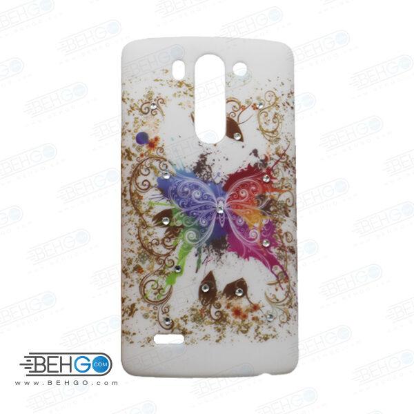 قاب طرح دار گوشی الجی جی 3 مینی LG G3 mini طرح پروانه رنگی case For LG G3 mini