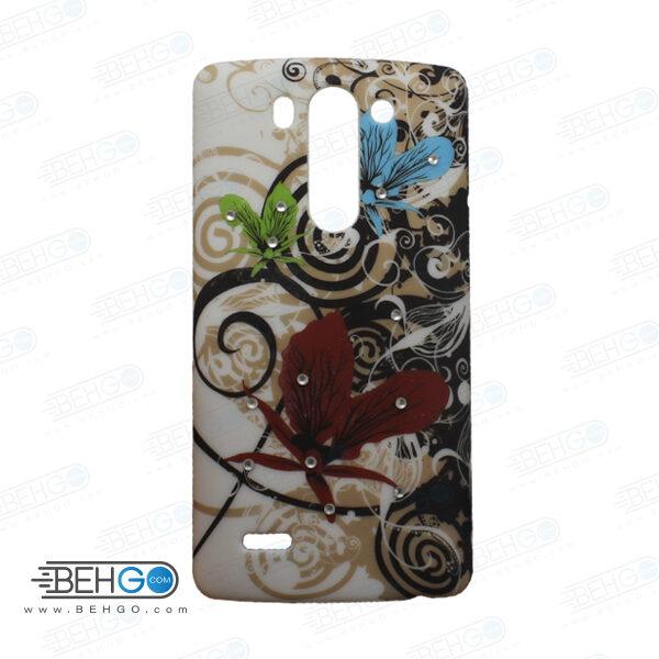 قاب طرح دار گوشی الجی جی 3 مینی LG G3 mini طرح پروانه case For LG G3 mini
