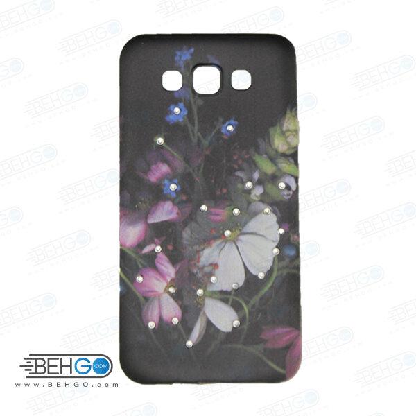 قاب طرح دار گوشی سامسونگ ای 7 E7 طرح گلcase For Samsung galaxy E7