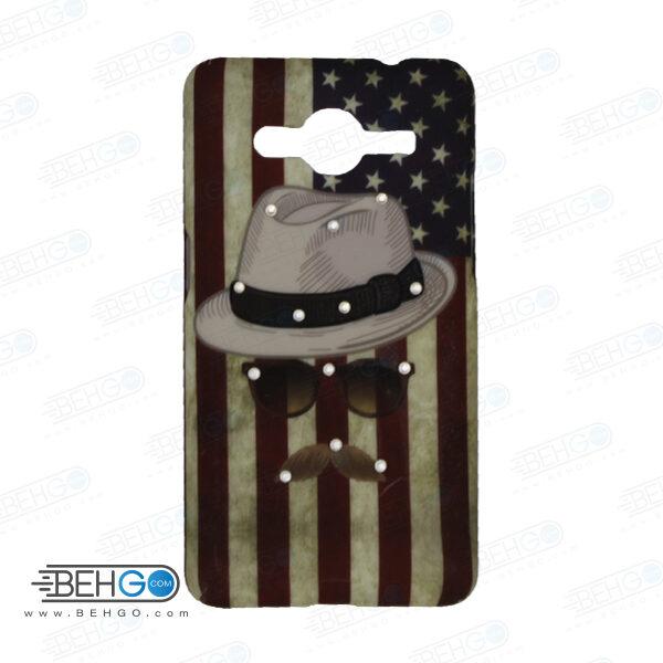 قاب طرح دار گوشی سامسونگ کور 2 Core 2 طرح کلاه آمریکایی case For Samsung galaxy core2 G355