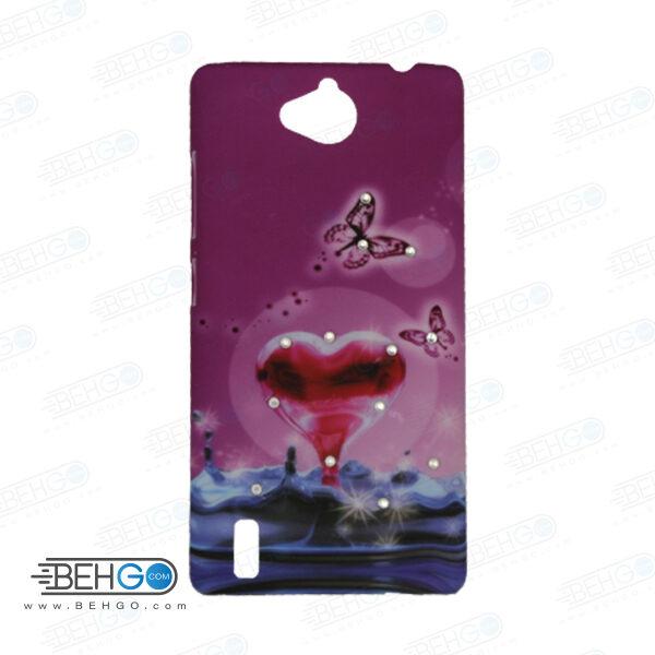 قاب طرح دار گوشی هواوی جی 740 طرح قلب case For Huawei G740
