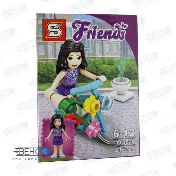 لگو LEGO دخترانه دوچرخه سوار FRIENDS