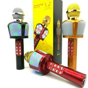 میکروفون اسپیکر بلوتوثی بیسیم اسپیکر میکروفونی اصلی سازگار با گوشی اندروید و ایفون مدل ZBX-918 Bluetooth Wireless Karaoke Microphone Portable Bluetooth Speaker