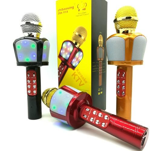 میکروفون اسپیکر مدل ZBX-918 اصلی سازگار با گوشی اندروید و ایفون مدل ZBX-918 Bluetooth Wireless Karaoke Microphone Portable Bluetooth Speaker