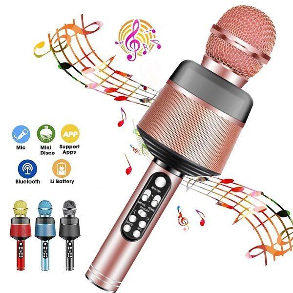 اسپیکر میکروفون دار بلوتوث میکروفون اورجینال مدل Wireless Bluetooth Karaoke Microphone Q008