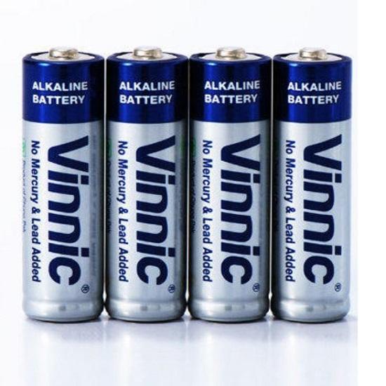 باتری قلمی آلکالاین برند وینیک تعداد 4 عددی مدل Vinnic AM3 AA size LR6 1.5V
