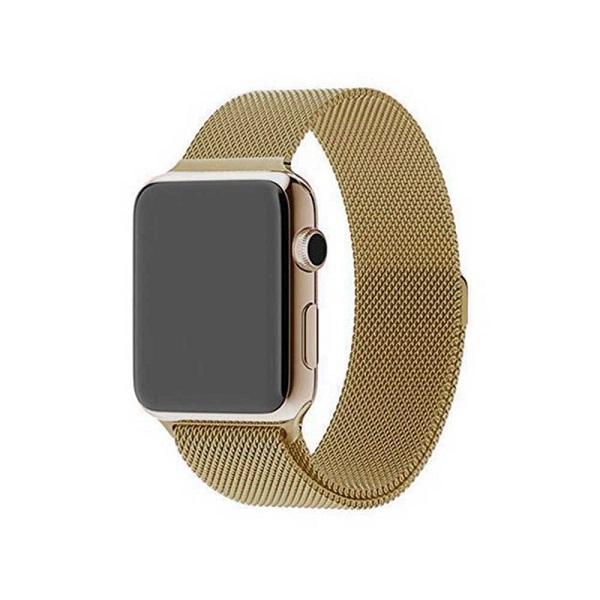 بند فلزی Millanese اپل واچ مناسب برای 38 و 40 میلی متری رنگ طلایی و مسی Apple Watch Milanese Loop 38/40mm