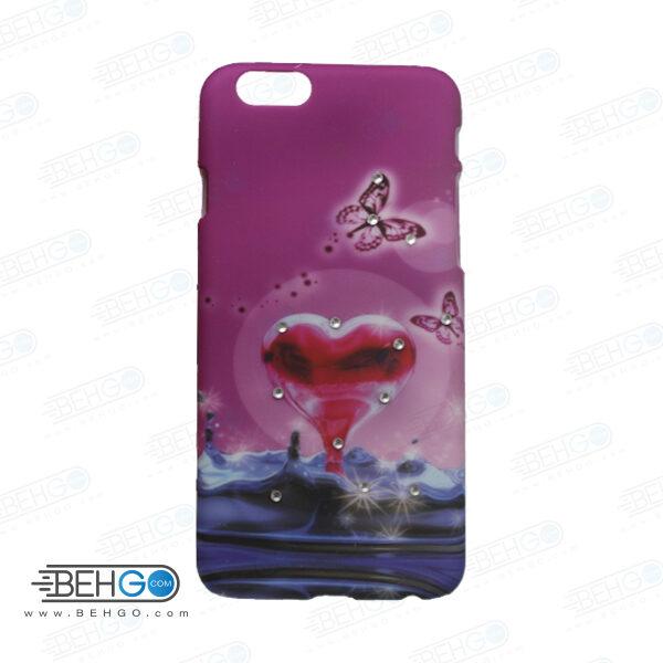 قاب طرح دار گوشی آیفون 6/ 6 اس iphone 6/6s طرح قلب و پروانه case For Iphone 6/6s