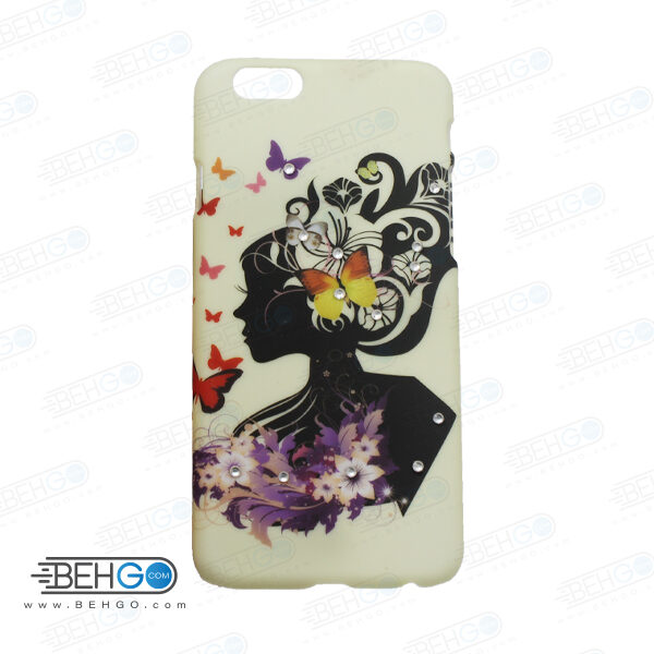 قاب طرح دار گوشی آیفون 6/ 6 اس iphone 6/6s طرح پروانه و دختر case For Iphone 6/6s