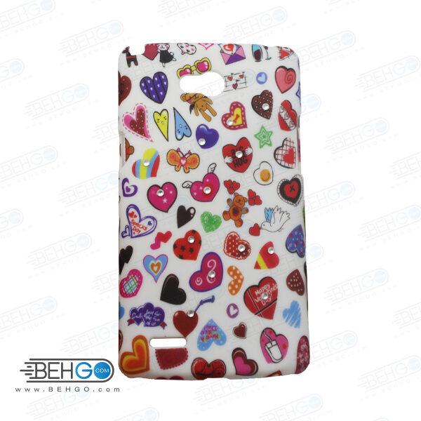 قاب طرح دار گوشی الجی ال 80 L80 طرح قلب رنگی case For LG L80