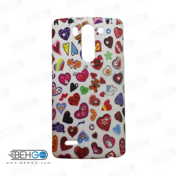 قاب طرح دار گوشی الجی جی 3 مینی LG G3 mini طرح قلب های رنگی case For LG G3 mini