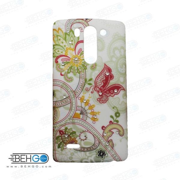 قاب طرح دار گوشی الجی جی 3 مینی LG G3 mini طرح پروانه و گل case For LG G3 mini