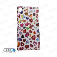 قاب طرح دار گوشی سونی زد 3 Sony z3 طرح قلب رنگی case For Sony z3