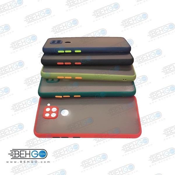 قاب گوشی شیائومی ردمی نوت 9 گارد مدل پشت مات اصلی کاور شیائومی Redmi Note9 محافظ دور سیلیکونی با برجستگی محافظ لنز دوربین برای گوشی شیائومی Fashion Case For Xiaomi Redmi Note 9