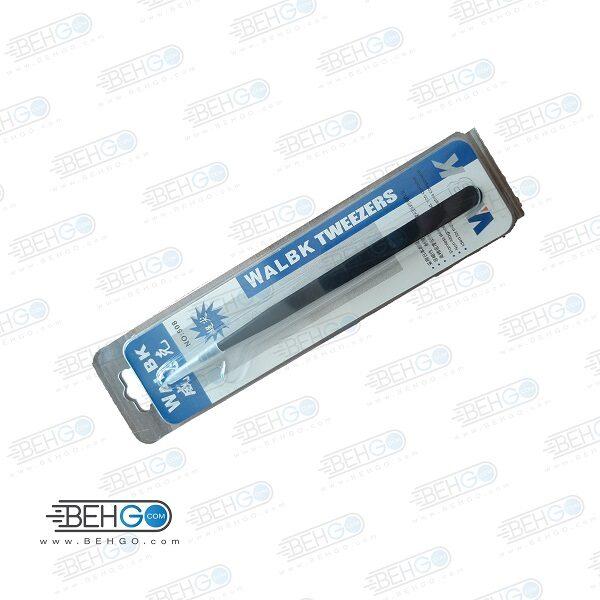 پنس ضد الکتریسیته سر صاف WALBK-11 ESD استیل ضدزنگ و مناسب تعمیرات گوشی موبایل WALBK-11 ESD Hardened Electronic Forceps