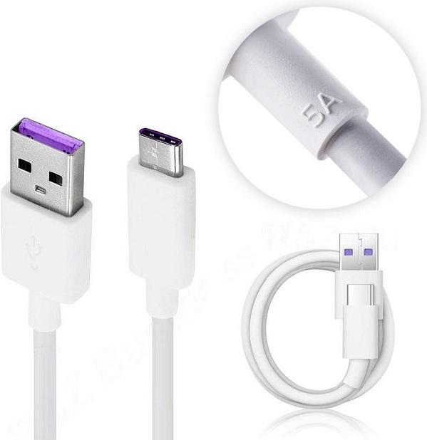 کابل اصلی سریع تایپ سی هواوی کابل اورجینال فست شارژر هواوی داخل بنفش با خروجی 5 امپر Huawei HL1289 USB 3.1 To Type C Fast Cable 1m
