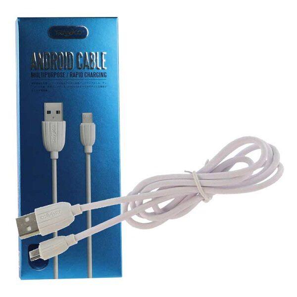 کابل USB به MICRO USB ترانیو مدل X1 کابل شارژر میکرو طول 1 متر Micro Cable Tranyoo X1 1m