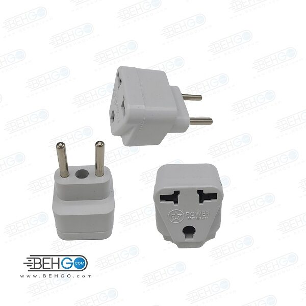 تبدیل 3 به 2 مدل پاور مناسب اداپتور شارژر برای پریز ایران USA US UK AU To EU Europe Iran Travel Charger Power Adapter Converter Wall Plug Home