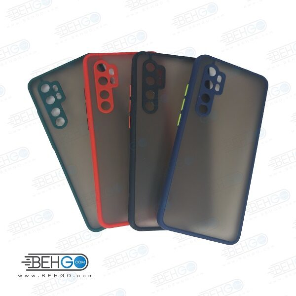 کاور محافظ قاب گوشی شیائومی می نوت 10 لایت گارد مدل پشت مات اصلی دور سیلیکونی با محافظ لنز دوربین برای گوشی شیائومی Fashion Case For Xiaomi mi Note10 lite / mi Note10Lite