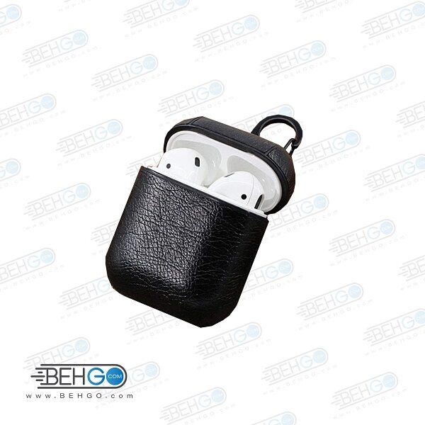 کاور چرمی ایرپاد Coblue Leather Case Airpods