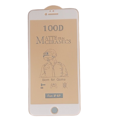 گلس مات آیفون 6 پلاس و 6s پلاس محافظ سرامیکی مات اصلی iphone 6s Plus انعطاف پذیر نشکن با چسب کامل محافظ صفحه نمایش نانو سرامیکی مات Original Matte Nano Flexible Ceramic Full Coverage Screen Protector with Full Glue Anti Broken For Iphone 6 plus/Iphone 6s plus