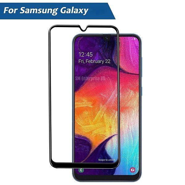 گلس گوشی سامسونگ M01 مدل فول محافظ صفحه نمایش شیشه ای M01 تمام چسب گلس Full Glue Glass Samsung Galaxy M01