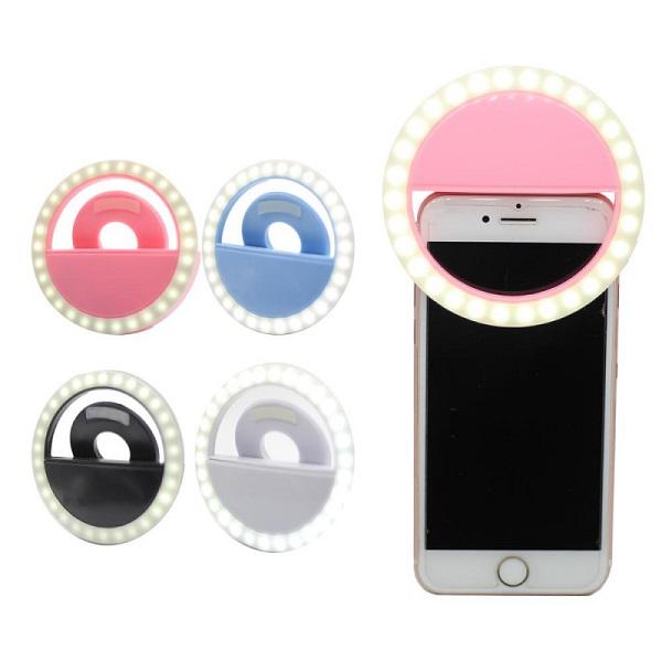 رینگ لایت گوشی موبایل مناسب عکاسی ، فیلم برداری و لایو اینستاگرام برای گوشی ، تبلت و لب تاپ Selfie Ring Light for Mobile Phone Camera