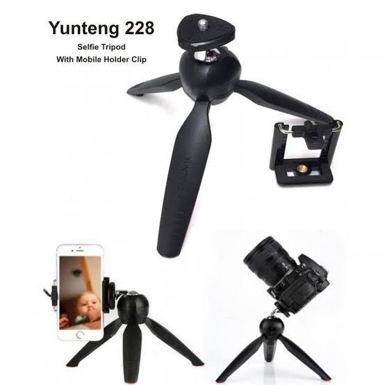 سه پایه نگه دارنده گوشی موبایل ،دوربین و مونوپاد مدل یانتنگ مدل Yunteng YT-228 Monopod Holder Tripod YT228