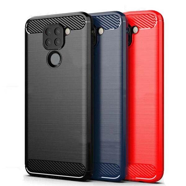 قاب محافظ شیائومی ردمی نوت 9 ژله ای شیائومی Xiaomi Redmi Note 9 / Redmi 10x 4G Rugged Armor Fiber Carbon Redmi Note9