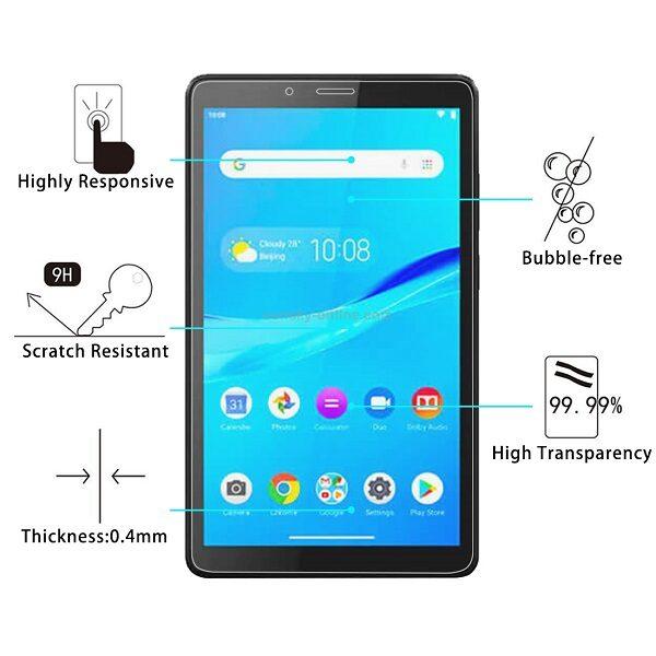 گلس تبلت لنوو تب ام 7 تی بی 7305 محافظ صفحه نمایش شیشه ای لنوو Glass Screen Protector For Lenovo Tab M7 TB-7305
