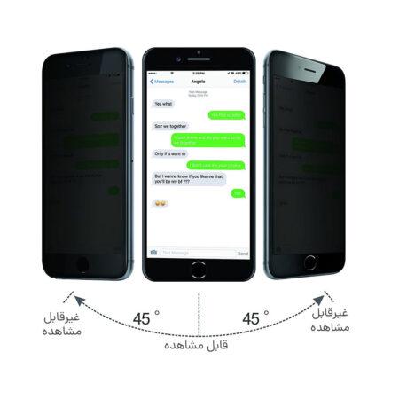 گلس حریم شخصی ایفون 6 اس و آیفون 6 جی محافظ صفحه پرایوسی اپل 6 محافظ صفحه نمایش شیشه ای حریم خصوصی ایفون Privacy Glass for Apple Iphone 6G / Iphone 6S
