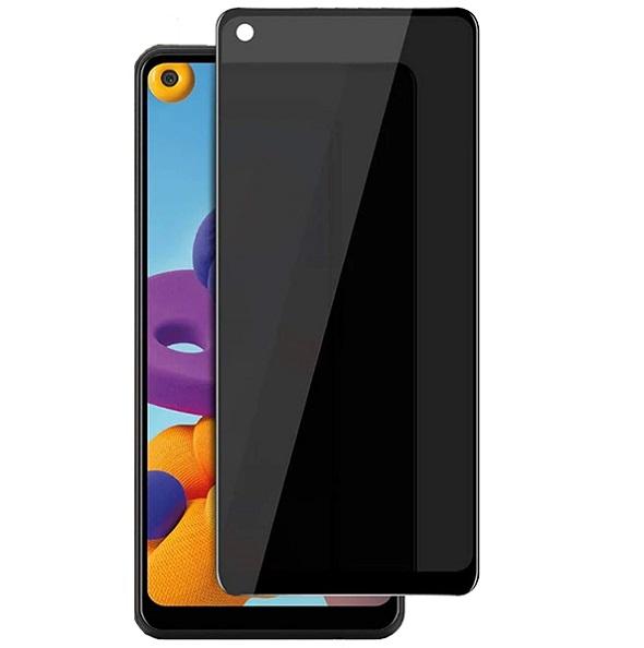 گلس حریم شخصی گوشی سامسونگ A21S پرایوسی A21S محافظ صفحه نمایش شیشه ای مشکی خصوصی Privacy Glass for Samsung Galaxy A21S