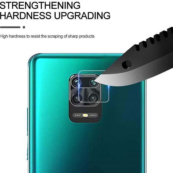 گلس لنز دوربین گوشی شیائومی ردمی نوت 9 اس و ردمی نوت 9 پرو محافظ لنز دوربین نوت9اس بی رنگ و شفاف محافظ لنز دوربین شیشه ای Camera Lens Glass Protector For Xiaomi Redmi Note 9 Pro / Note 9 Pro Max / Note 9S