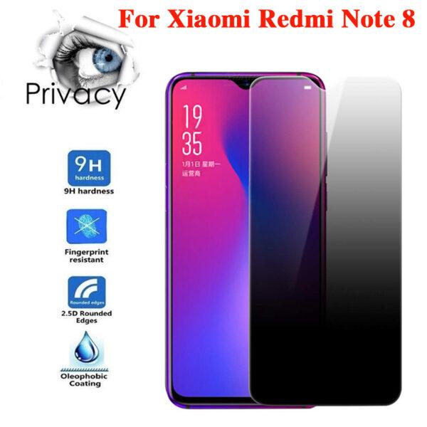 گلس پرایوسی گوشی شیائومی ردمی نوت 8 گلس حریم شخصی خصوصی ردمی نوت8 اصلی مدل Privacy Full Glass Screen Protector For Xiaomi Redmi Note8 / Note 8