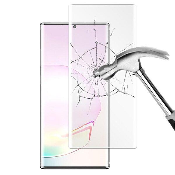 گلس گوشی سامسونگ نوت 20 صفحه نمایش شیشه ای سامسونگ نوت بیست تمام صفحه نوت 20 با پوشش کامل مدل یو وی uv nano glass for samsung galaxy note 20