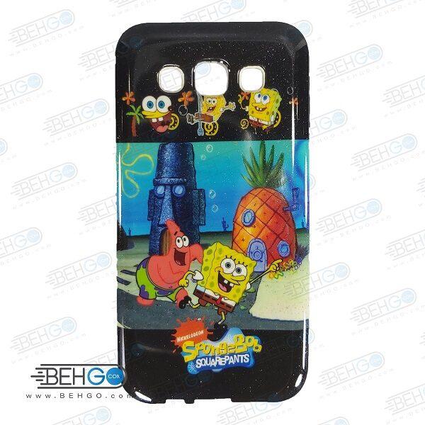 قاب سامسونگ E5 کاور ژله ای گوشی سامسونگ E5 مدل باب اسفنجی Samsung Galaxy E5 iFace Case