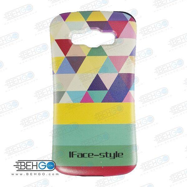 قاب سامسونگ E5 کاور گوشی سامسونگ E5 مدل آی فیس طرح مثلثی رنگی Samsung Galaxy E5 iFace Case