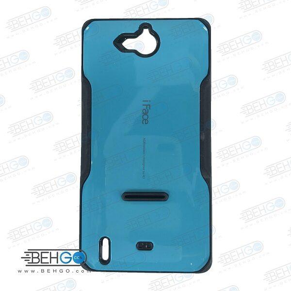 قاب هواوی Honor 3c کاور گوشی هواوی G740 مدل آی فیس آبی رنگ قاب هواوی آنر تری سی Samsung Galaxy G740 iFace Case