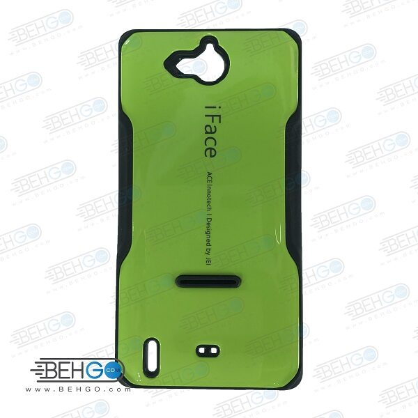 قاب هواوی Honor 3c کاور گوشی هواوی G740 مدل آی فیس سبز رنگ قاب هواوی آنر تری سی Samsung Galaxy G740 iFace Case