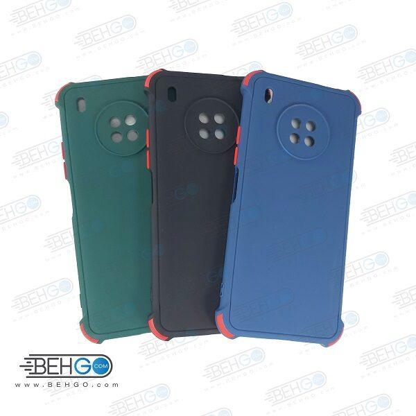 قاب هواوی Y9A کاور مدل ژله ای دکمه رنگی محکم ضد ضربه با محافظ لنز دوربین گوشی وای Y9A گارد محافظ قاب Camera Cover color key Case for Huawei Y9A