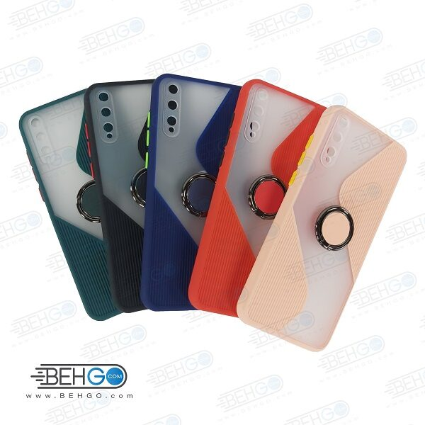 قاب گوشی هواوی وای 8 پی کاور Y8P قاب پاپ سوکت دار با محافظ لنز دوربین گوشی Y8 p مدل حلقه انگشتی نگهدارنده موبایل مناسب New 2021 Case with popsocket for Huawei Y8p 2020