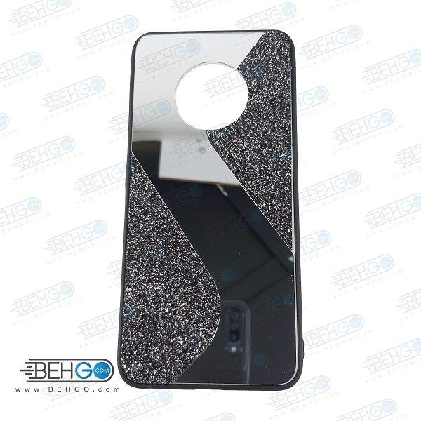 قاب گوشی Y9A قاب فانتزی هواوی وای 9A گارد مدل جدید اکلیلی آینه ای مناسب گوشی موبایل هواوی New Mirror glitter case For Huawei Y9A