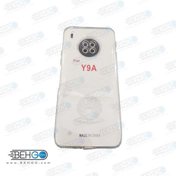 قاب Y9A ژله ای شفاف بی رنگ با محافظ لنز دوربین گوشی هواوی Y9A کاور Clear Cover Camera Protection Case  for Huawei Y9A