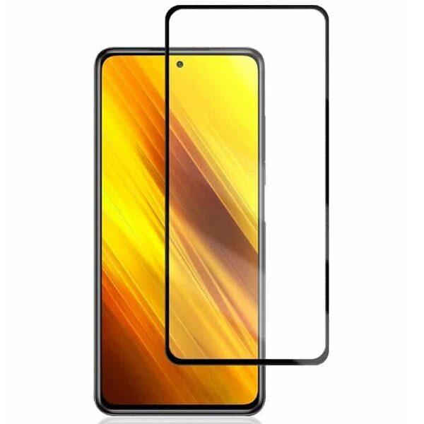 گلس گوشی شیائومی Poco X3 مدل فول محافظ صفحه نمایش شیشه ای گلس Full Glass Screen Protector Glass Xiaomi  Poco X3